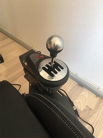 Gearstang på bilsimulator